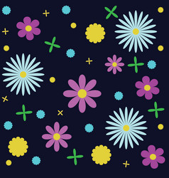 floral pattern manufactory background vector image