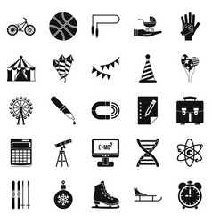 learner icons set simple style vector image vector image