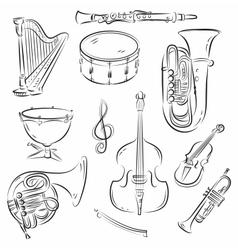 Symphony Orchestra Set vector image