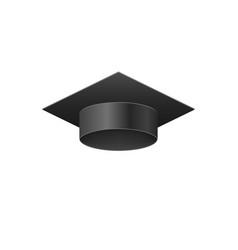 3d realistic graduation university black cap vector image