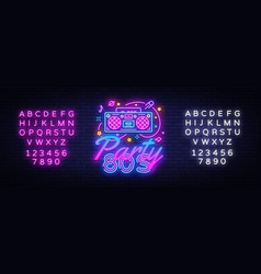 80s party neon sign back to 80s neon vector image