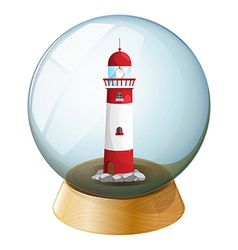 A crystal ball with a tower inside vector image
