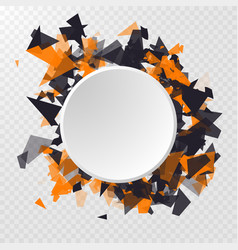 Abstract circle banner advertisement panel vector