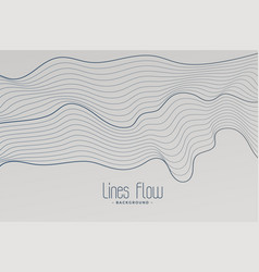 Abstract contour style lines background vector