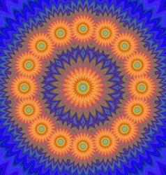 Abstract orange flower design vector