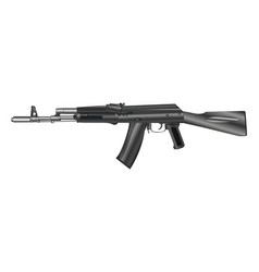 Automatic weapon gun isolated on white vector
