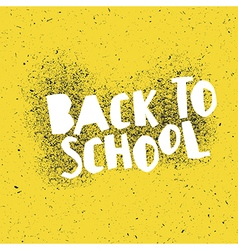Back to school poster design with yellow vector
