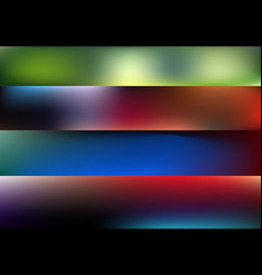 blurred abstract backgrounds set for vector image