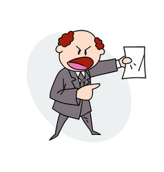 boss shouting orders vector image