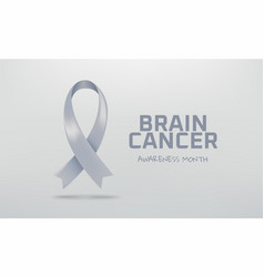 brain cancer awareness month symbol grey vector image