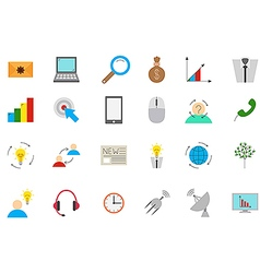 Business communication icons set vector