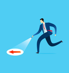 businessman searching a guidance vector image