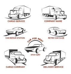 Car club logo set vector
