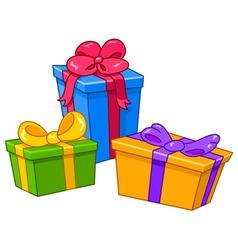 Cartoon gifts vector