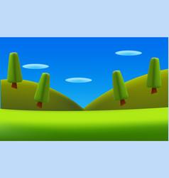 Cartoon landscape nature background vector