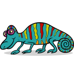 chameleon animal cartoon vector image