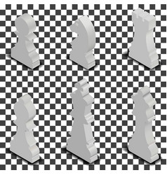 chess figures isometric vector image