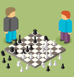 Chess isometric game isometric series vector