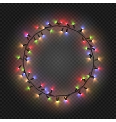 Christmas and New year realistic light garlands vector