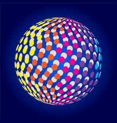 Colors glow design vector