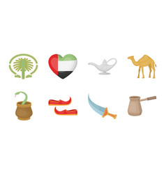 Country united arab emirates icons in set vector