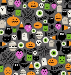 Cute halloween icon pattern vector