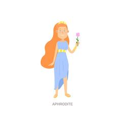Cute red hair greek mythology woman god aphrodite vector