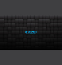 Dark gray 3d squares grid pattern abstract vector