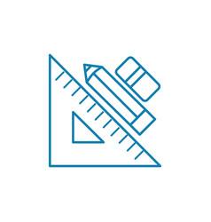 design tools linear icon concept design tools vector image