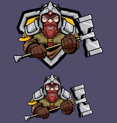 dwarf mascot logo vector image