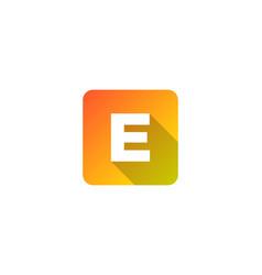 E modern gradation shadow letter logo icon design vector
