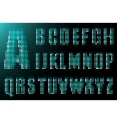 electronic alphabet vector image