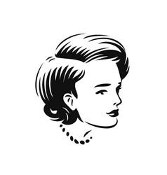 face beautiful woman beauty salon spa vector image