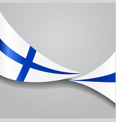 Finnish wavy flag vector