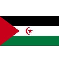 Flag of western sahara correct size colors vector