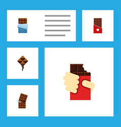 flat icon bitter set of delicious wrapper vector image