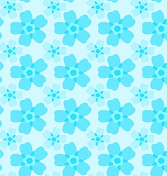 Forget-me-not seamless pattern vector