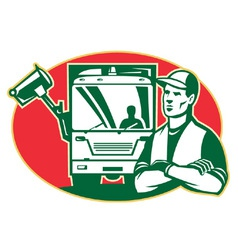 garbage man collector vector image