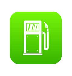 gasoline pump icon digital green vector image