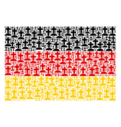 germany flag mosaic of cemetery icons vector image