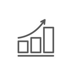 growing schedule line icon vector image