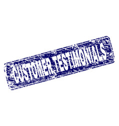 Grunge customer testimonials framed rounded vector