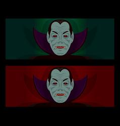 Halloween dracula party set vector
