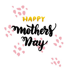 happy mother day handwritten postcard vector image