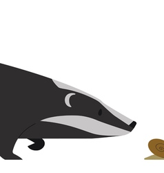 Hunting Badger vector image