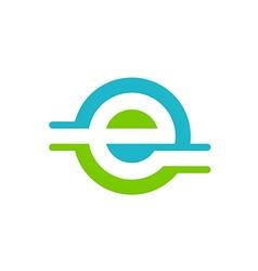 internet letter e logo vector image