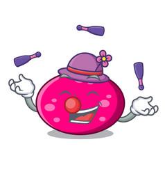 juggling ellipse mascot cartoon style vector image