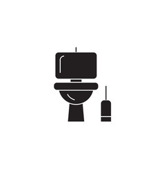 Lavatory black concept icon lavatory flat vector