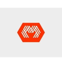 Letter M W logo icon design Creative line vector