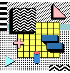 light block colorful geometric stylish background vector image
